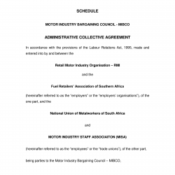 05 October 2010 Amending Administrative Agreement in the Motor Industry Bargaining Council-1