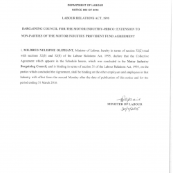 07 August 2015 Main Provident Fund Agreement In the Motor Industry Bargaining Council-01