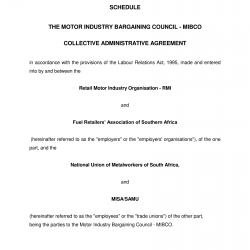 24 January 2006 Administrative Agreement in the Motor Industry Bargaining Council-01