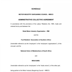 July 2008 Amending Administrative Agreement In the Motor Industry Bargaining Council-1