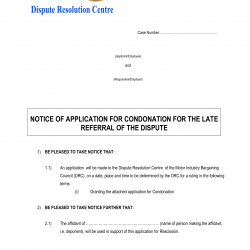 Notice-of-Application-for-Condonation-for-the-Late-Referral-of-the-Dispute-DRC-1